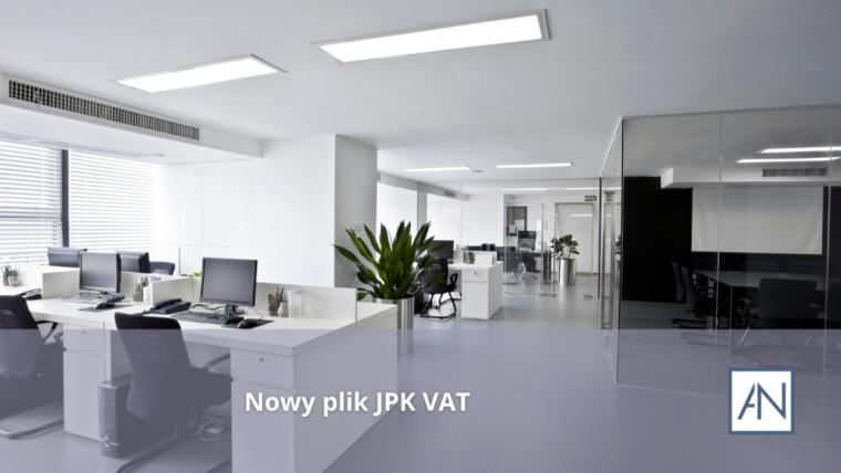 Nowy plik JPK VAT